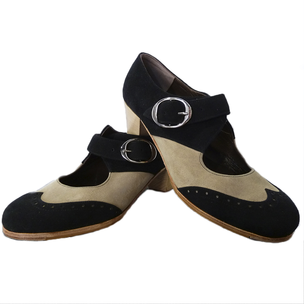 Zapato profesional flamenco hebilla ancha