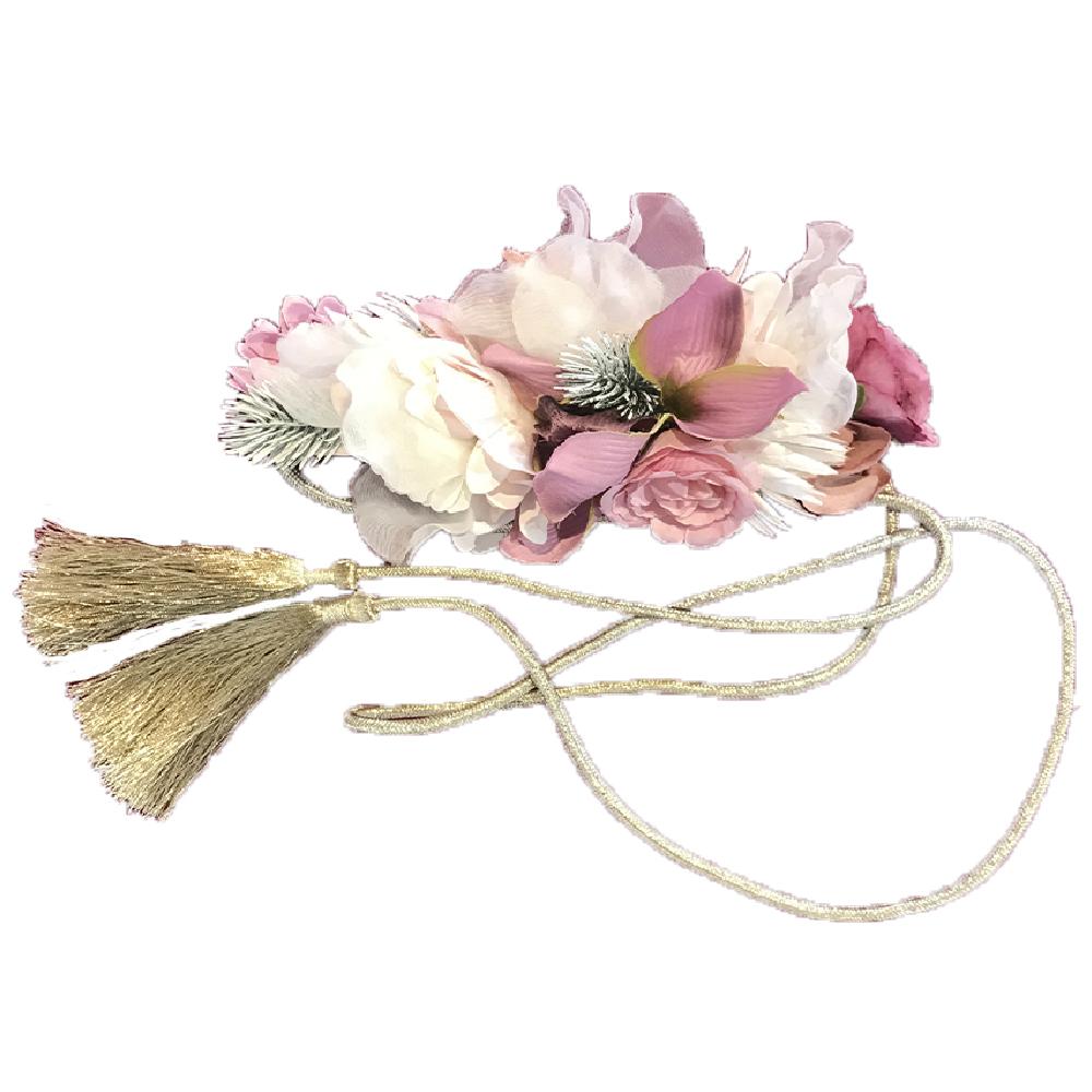 Cinturón flores con cuerda