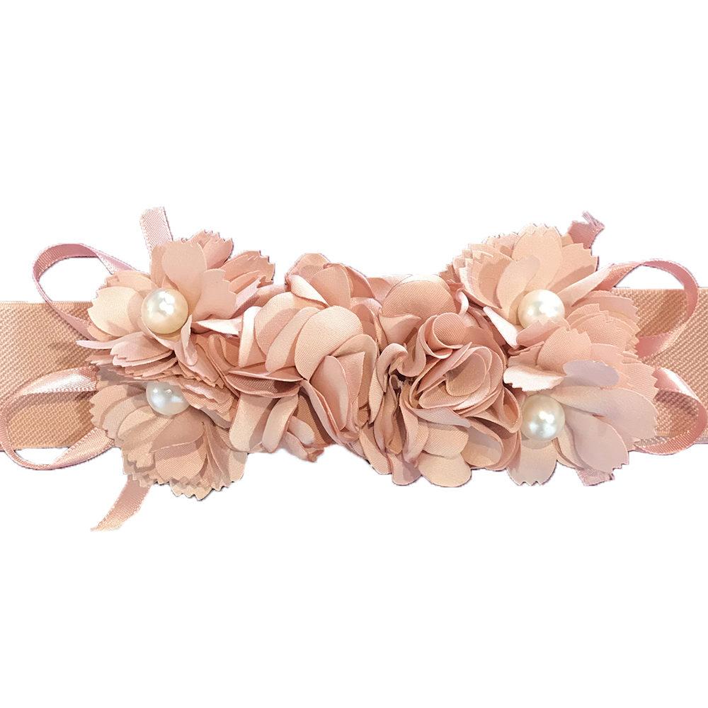 Cinturón flores con goma